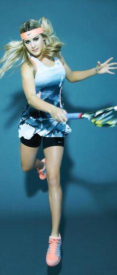 Tennis star Eugenie Bouchard poses for Chic Magazine Summer 2014 Eugene Bouchard, Canadian Tennis Player, Tennis World, Professional Tennis Players, Beautiful Athletes, Tennis Fashion, Sport Tennis, Tennis Stars, Tennis Clothes