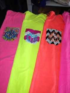 Monogrammed Pocket T-shirts on Etsy, $24.95