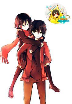 Kagerou Project Ayano Tateyama and Shintaro Kisaragi Couple Manga, Anime Love Couple, Cute Anime Couples, I Love Anime, Kagerou Project, Cosplay Anime, Art Manga, Manga Anime, Desu Desu