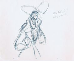 Frank Thomas' rough animation sketches for Captain Hook from Peter Pan Rumor has it that Captain Hook's appearance is based on Thomas! Peter Pan, Animation Sketches, Art Sketches, Sword In The Stone, Disney Artists, Disney Concept Art, Disney Drawings, Disney Sketches, Captain Hook