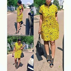 Ankara Xclusive: Classic, Stylish and Latest Ankara Short Dresses 2018 for Smart Ladies Short African Dresses, Ankara Short Gown, Short Gowns, Latest African Fashion Dresses, African Print Dresses, African Print Fashion, Ankara Skirt, Ankara Tops, Ankara Fashion