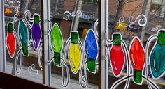 Calgary's season for Christmas window paintings   Demotix.com