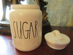 Rae Dunn Sugar Canister Magenta New Farmhouse Chic #RaeDunn
