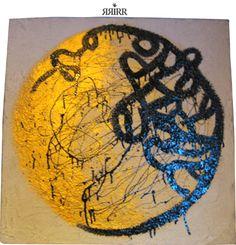 RAICES   pintura en acrílico sobre bastidor de papel reciclado   70X70   RRiRR  Ricardo Gil Turrion   colección privada