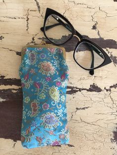 American Horror Story Excited to share this item from my shop: Vintage Cigarette Case, Glasses Vintage Cigarette Case, American Horror Story, Eyeglasses, Sunglasses Case, Floral Design, Vintage Outfits, Tapestry, Turquoise, French