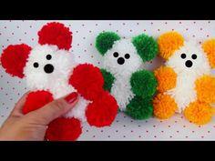 URSINHO DE POM POM DE LÃ | URSINHO DE PELÚCIA FÁCIL | IDER ALVES - YouTube Paper Crafts For Kids, Diy Arts And Crafts, Craft Stick Crafts, Pom Pom Animals, Sewing Machines Best, Pom Pom Baby, Yarn Flowers, Hand Embroidery Flowers, Pom Pom Crafts