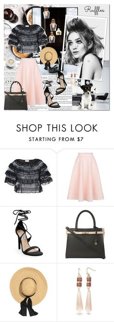 """RUFFLE"" by marvelialauraa ❤ liked on Polyvore featuring Prada, RED Valentino, New Look, Steve Madden, Dorothy Perkins, New Directions and ruffles"