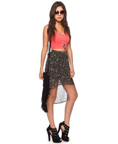 Abstract High-Low Skirt | FOREVER 21 - 2011408118