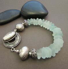 Cape Cod Bracelet Genuine Sea Glass with by StoneStreetStudio