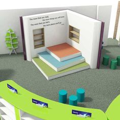 Opening the book offers a free library design service to help you plan your school library or public space. Public Library Design, Future Library, Library Shelves, Shelving Systems, 3d Visualization, Water Tower, Library Ideas, Ivoire, Design Consultant