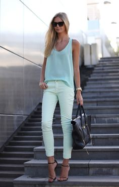 appropriate way to wear colored denim..