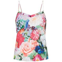 Buy Ted Baker Grieta Floral Swirl Camisole, Fuchsia Online at johnlewis.com