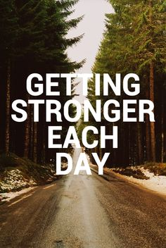 Getting Stronger Each Day. http://www.ilikerunning.com #motivation #inspiration