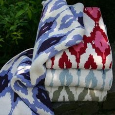 ikat blanket. yes please.