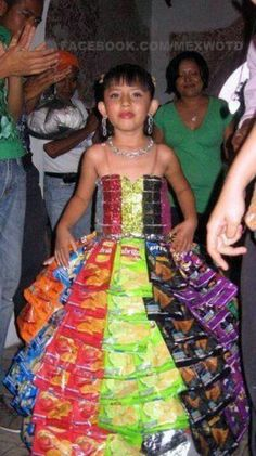 New Quinceañera Dress style from recycled Chip Bags