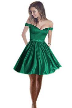Elegant V Neck Off Shoulder Short Prom Homecoming Dress