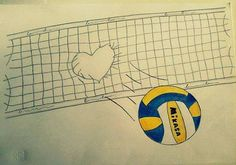 Amazing volleyball drawing.