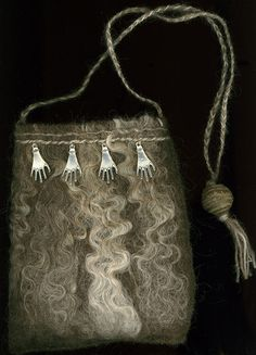 Supplication  wet felted bag by ThistleWoolworks on Etsy, $110.00