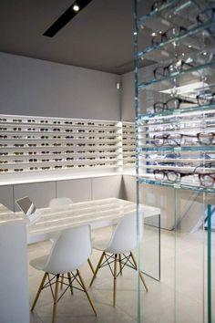 08_copyright_CyrilleDruart_2013 Concrete Posts, Optical Shop, Shop Interiors, Store Design, Dining Table, Optometry, Interior Design, Chair, Eyewear