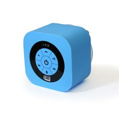 Adesso® Xtream S1 Bluetooth® 3.0 Waterproof Speaker. This is a pretty awesome waterproof speaker. You can stream music from your mobile device wirelessly while taking a shower.  It can stick on bathroom tiles, and you can make phone calls through it as well!  Comes in 5 beautiful colors. More info at: http://www.adesso.com/products/product-detail-290.html