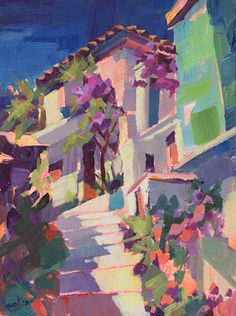 Paintings by Patti Mollica: A colorful climb