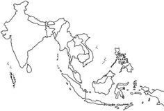 World Map Of Asian Contries Coloring Page : Kids Play Color