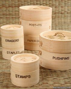 Bamboo Steamers as Crafty Containers
