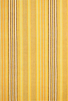 Dash & Albert - Sunflower Ticking - Cotton Woven Rug 61 x - Kensington Design Carpet Cleaning By Hand, Carpet Cleaning Company, Professional Carpet Cleaning, Nautical Rugs, Kensington, Dash And Albert, Rug Company, Yellow Rug, Indoor Outdoor Rugs