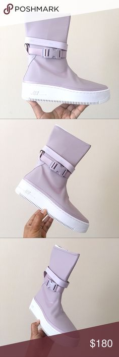 Nike Violet Ash white Air Force 1 Sage High BootsBooties Size US 11.5 Regular (M, B) 2% off retail