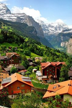 Wengen, Switzerland Valley View by Ammazed