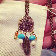 Dream catcher necklace . $27.00, via Etsy.