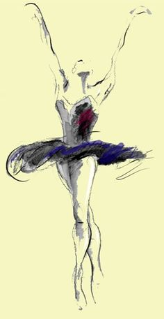 Ballet Dancer Drawing - Learn to dance at BalletForAdults.com!