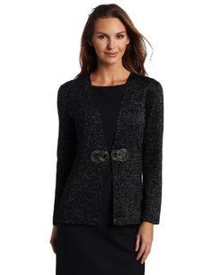 Jones New York Women's Long Sleeve Detailed Closure Cardigan, Black/Multi, Small Jones New York. $52.16. Made in China. Hook & eye closure. Dry Clean Only. V-neck. 40% Viscose/40% Nylon/20% Cotton. Save 67% Off!