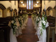 Church wedding decorations new ideas church wedding decor with church wedding decor weddings simple church pew . Country Church Weddings, Wedding Church Aisle, Chapel Wedding, Wedding Ceremony, Church Aisle Decorations, Table Decorations, Chandelier Art, Decorating With Pictures, Stained Glass Panels