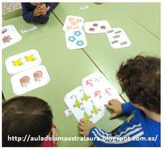 Aula de la maestra Laura: Tarjetas-Equivalencia de conjuntos