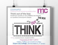 "Check out new work on my @Behance portfolio: ""Think out of the box - Poster (2013)"" http://be.net/gallery/34226475/Think-out-of-the-box-Poster-(2013)"