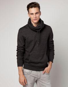 Bershka Holland - Sweatshirt, wijde opstaande kraag