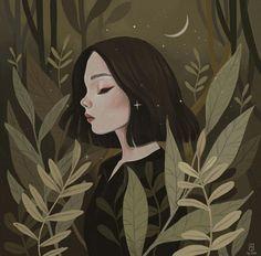 what a beautiful illustration// Gravure Illustration, Illustration Art, Illustrations, Art Anime, Anime Art Girl, Pretty Art, Cute Art, Illustration Inspiration, Art Graphique