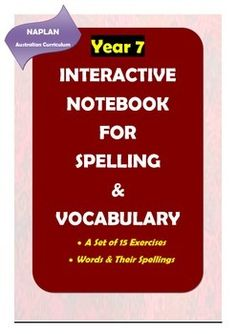 Here is a great product for improving Year 7 students' spelling and vocabulary skills. There are 14 worksheets in which meticulously selected words in line with NAPLAN requirements (Australian Curriculum) are included for spelling practice and vocabulary learning.