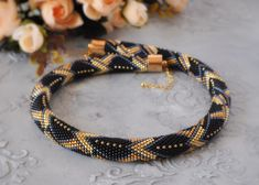 VK is the largest European social network with more than 100 million active users. Gemstone Bracelets, Jewelry Necklaces, Beaded Necklace, Bead Crochet Patterns, Beading Patterns, Jewelry Patterns, Bracelet Patterns, Crochet Bracelet, Fashion Necklace