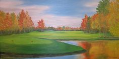 House warming present for a friend of mine, this oil painting was done in less than 3 hours     Golf Paintings