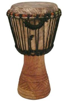 """Hand-carved Djembe Drum From Africa - 9""""x 18"""" Classic Ghana Djembe http://ift.tt/1HoEYAu"""