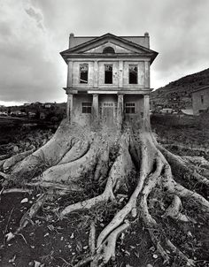 Jerry Uelsmann - Untitled (House with Roots), 1982