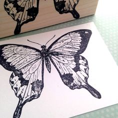 Mocker Swallow Tail Wood Mounted Rubber Stamp by 100ProofPress