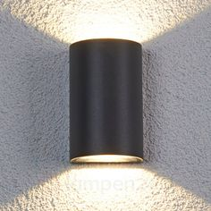 Halfronde led-buitenwandlamp Jale, 2x5 W