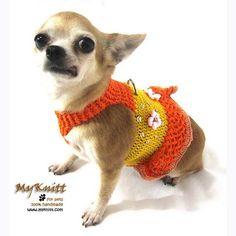 hand crochet flower accessories dog dresses harness by myknitt #digs #fahsiondesigner #fashion #diy #crochet #knit #pets