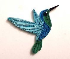 Paper quilled Hummingbird for a bookmark or charm. $20+shipping  www.facebook.com/ivyartwork