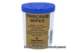 Gold Label Triscrub Wipes This antibacterial skin cleanser and surgical scrub is now available in a handy.