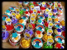 Rainbow Brite Cupcakes