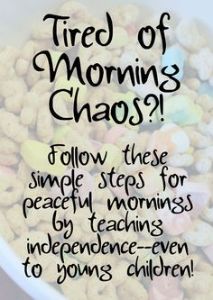 Tired Of Morning Chaos with Your Kids? Try These Steps! // Confident Foundation Blog